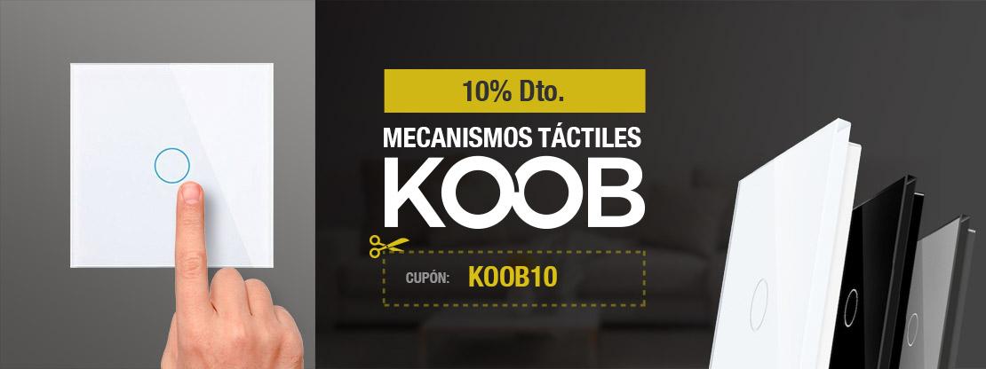 10% Dto. en mecanismos táctiles KOOB