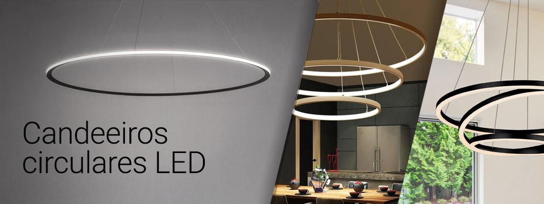 Candeeiros circulares LED