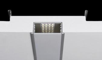 Perfis para encastrar de aluminio