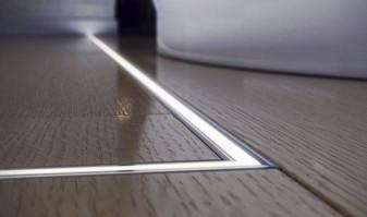 Protege las tiras de pisadas con los perfiles de suelo