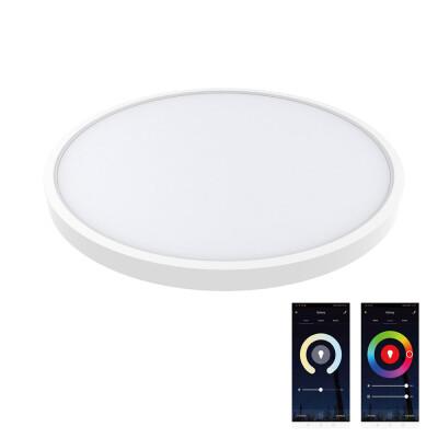Plafón Led KRAMFOR 20+4W, superficie, RGB+CCT, WiFi, RGB + Blanco dual, Regulable