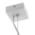 Lámpara de techo blanca PROLUX Suspend Housing Square 110