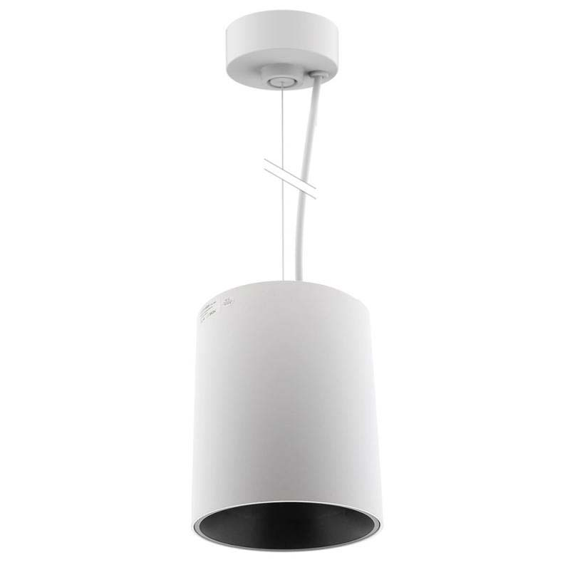 Lámpara de techo blanca PROLUX Suspend Housing Round Ø135