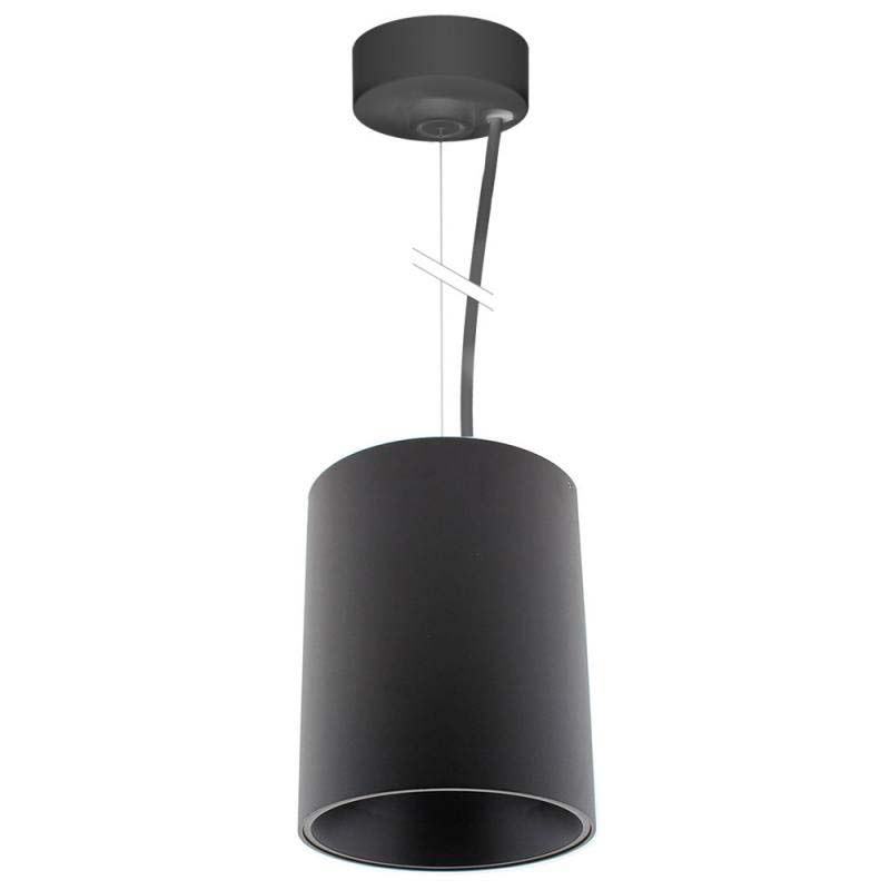 Lámpara de techo negra PROLUX Suspend Housing Round Ø135