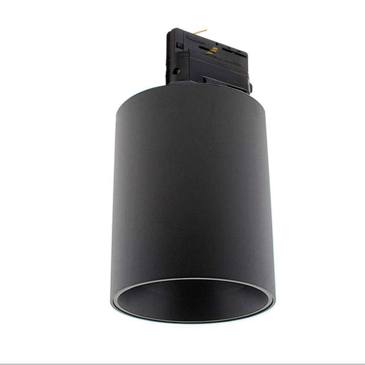 Foco LED Carril Trifásico Negro PROLUX Rail Housing Round Ø135