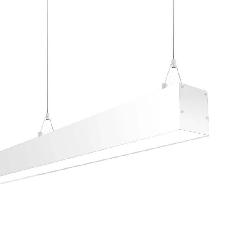 Lámpara colgante SERK, 70W, 208cm, 0-10V regulable, blanco