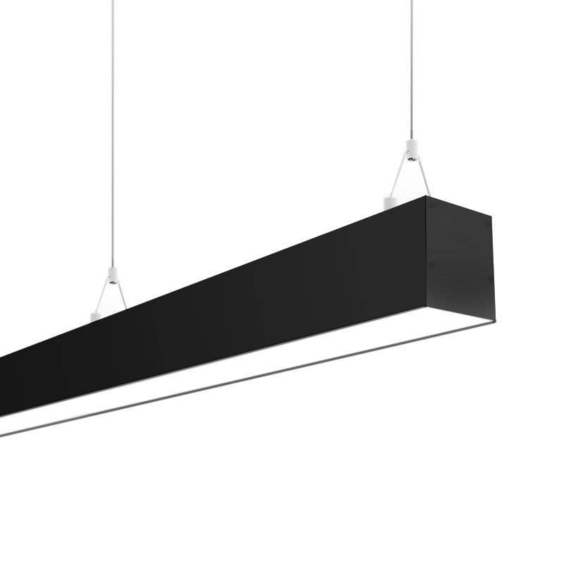 Lámpara colgante SERK, 70W, 208cm, 0-10V regulable, negro