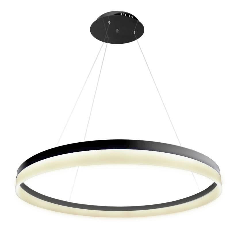 Lámpara colgante RING 73W, negro, Ø100cm