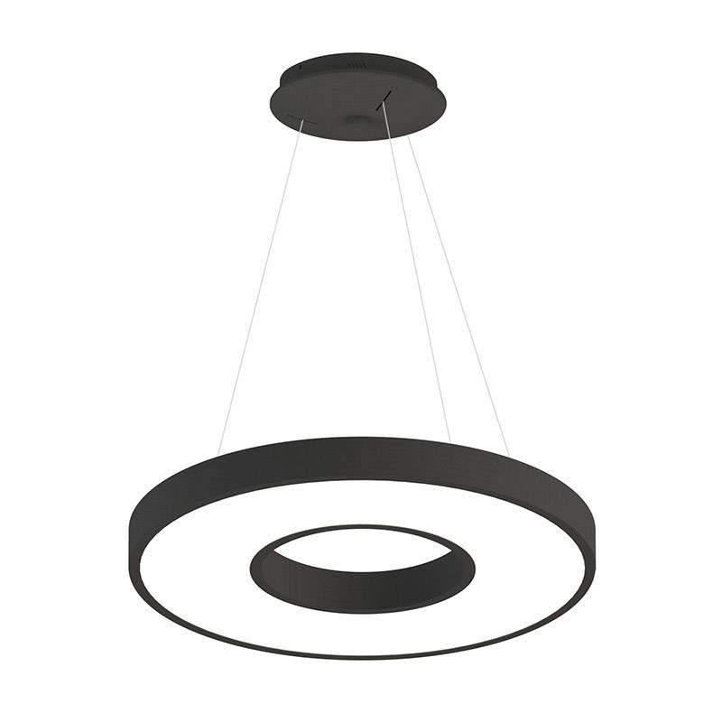 Lámpara colgante BERING 40W, negro, Triac regulable, Ø60cm