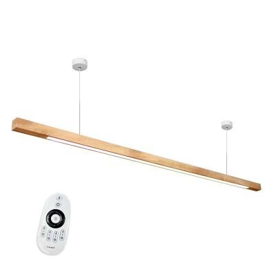 Lámpara colgante GIANT WOOD, 75W, DUAL, Blanco dual, Regulable
