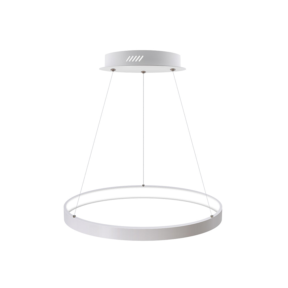 Luminaria colgante CYCLE IN, 38W, blanco, Ø40cm