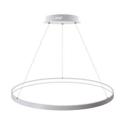 Luminaria colgante CYCLE IN, 66W, blanco, Ø70cm, Blanco frío