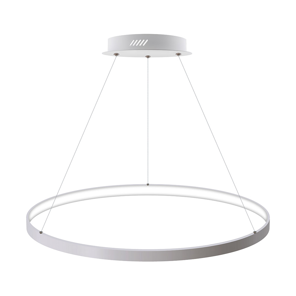 Luminaria colgante CYCLE IN, 66W, blanco, Ø70cm