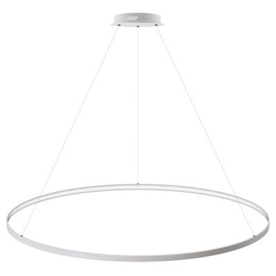 Luminaria colgante CYCLE IN, 130W, blanco, Ø140cm, Blanco cálido