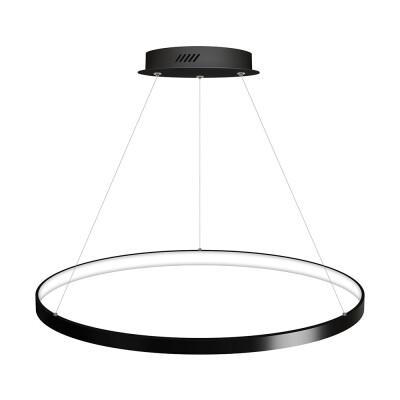 Luminaria colgante CYCLE IN, 66W, antracita, Ø70cm, Blanco frío
