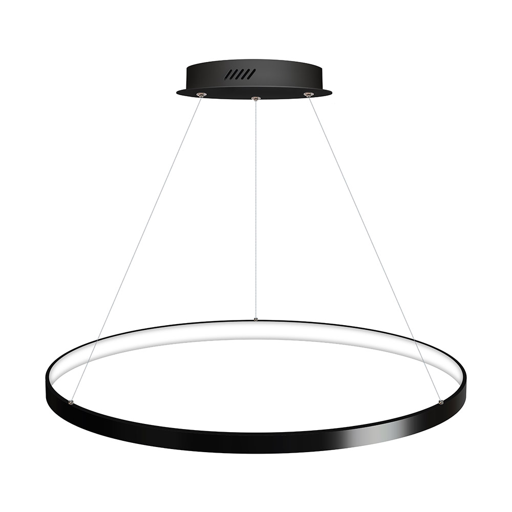 Luminaria colgante CYCLE IN, 66W, antracita, Ø70cm