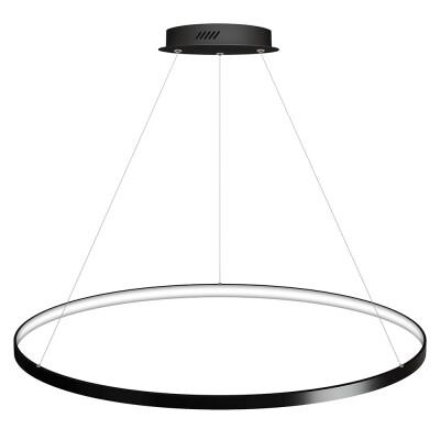 Luminaria colgante CYCLE IN, 95W, antracita, Ø100cm, Blanco neutro