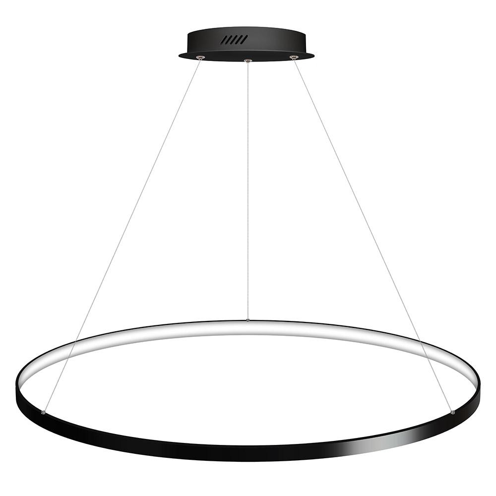Luminaria colgante CYCLE IN, 95W, antracita, Ø100cm