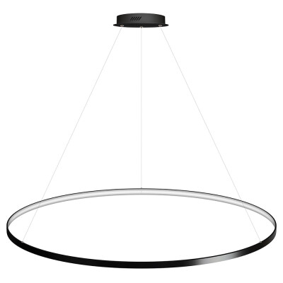 Luminaria colgante CYCLE IN, 130W, antracita, Ø140cm, Blanco neutro