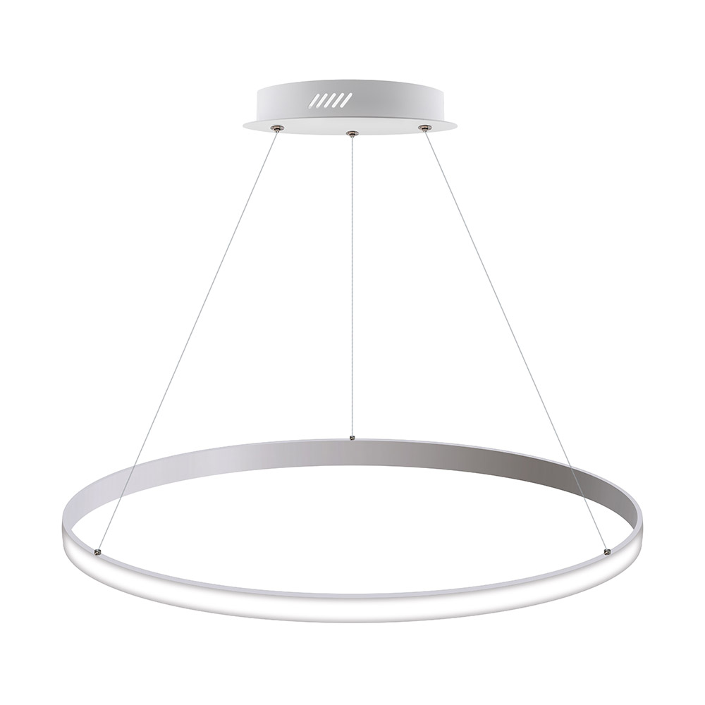 Luminaria colgante CYCLE OUT, 66W, blanco, Ø70cm