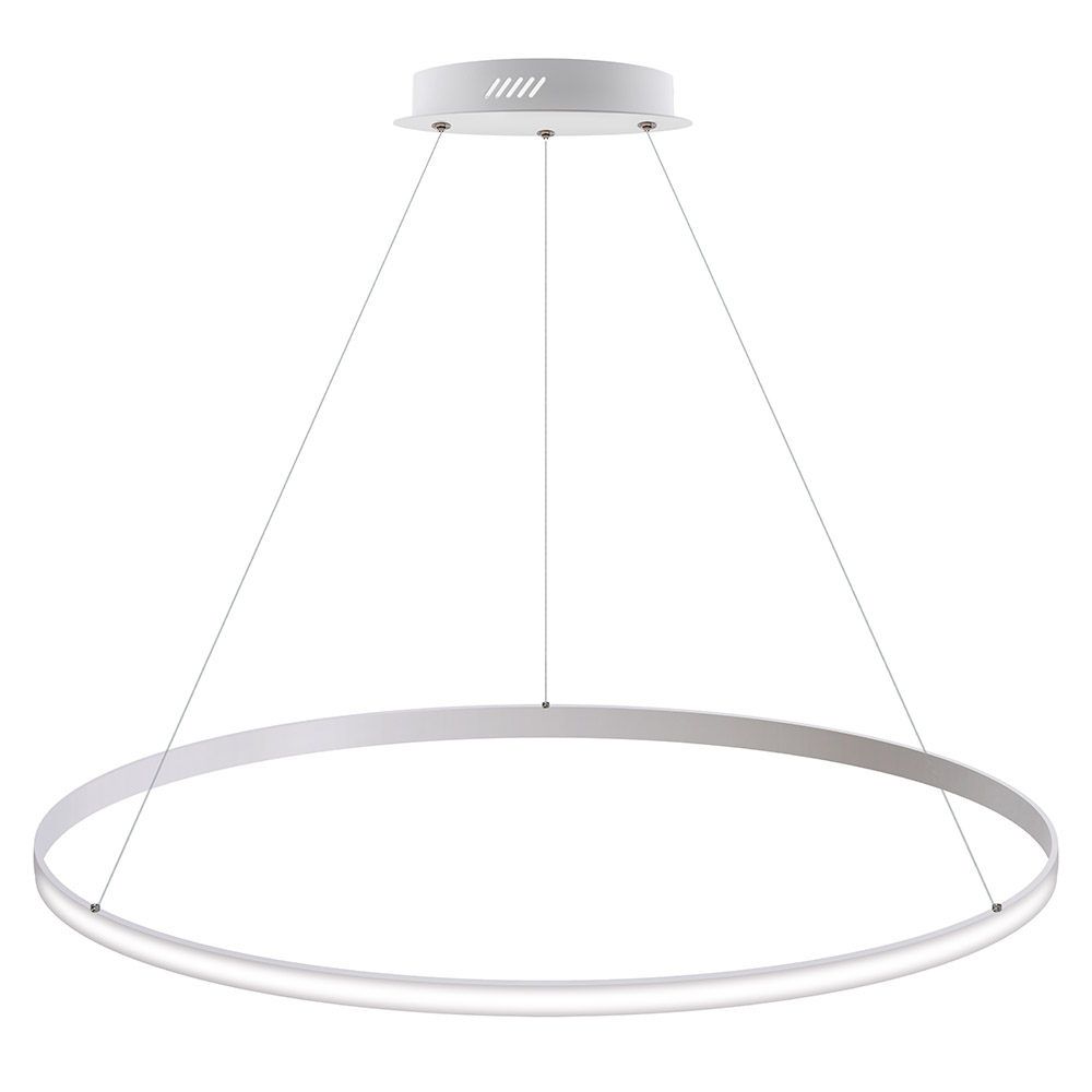 Luminaria colgante CYCLE OUT, 95W, blanco, Ø100cm