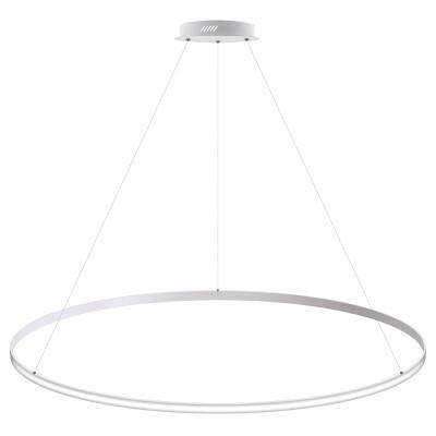 Luminaria colgante CYCLE OUT, 130W, blanco, Ø140cm, Blanco neutro