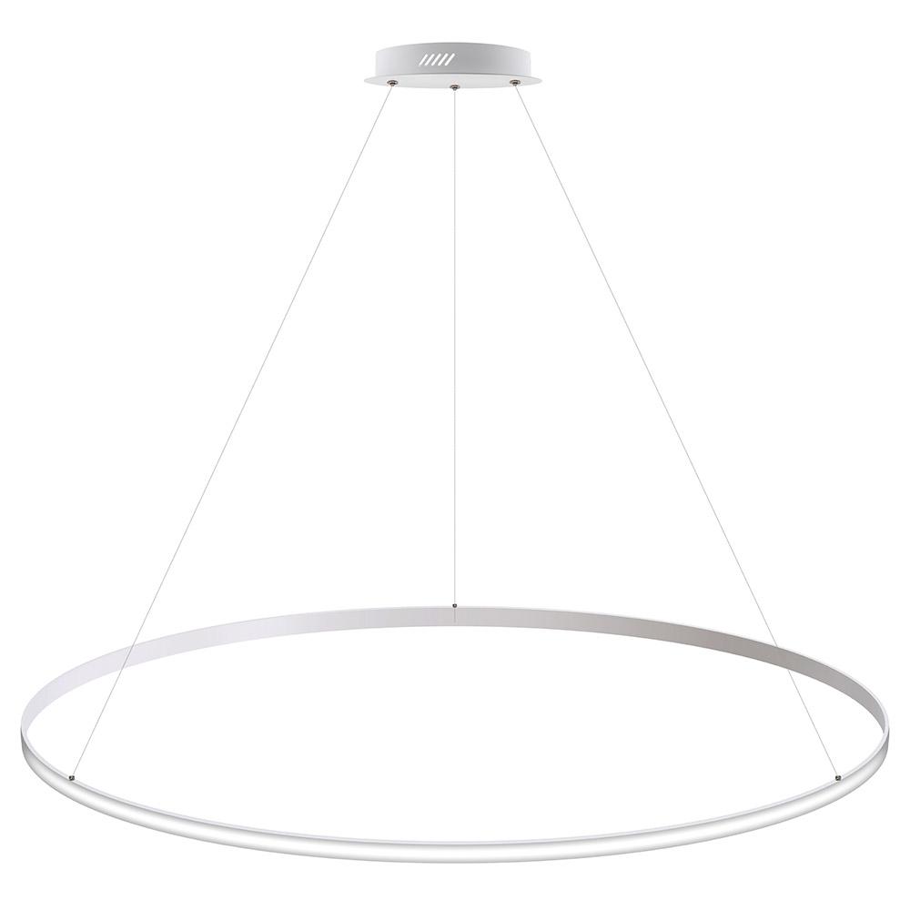 Luminaria colgante CYCLE OUT, 130W, blanco, Ø140cm