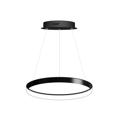 Luminaria colgante CYCLE OUT, 38W, antracita, Ø40cm, Blanco neutro