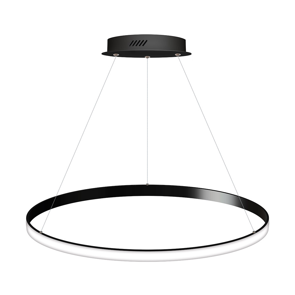 Luminaria colgante CYCLE OUT, 66W, antracita, Ø70cm