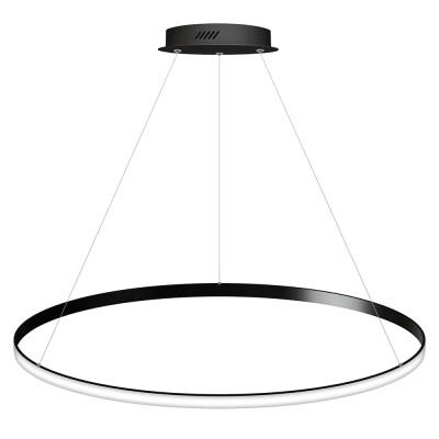 Luminaria colgante CYCLE OUT, 95W, antracita, Ø100cm, Blanco cálido