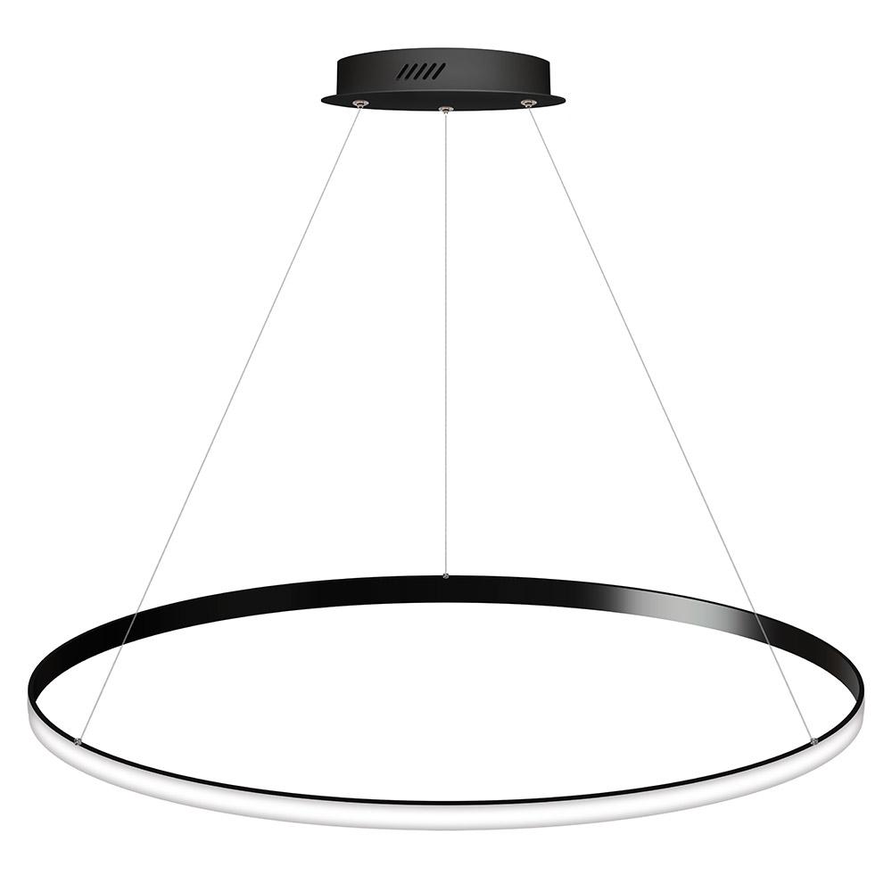 Luminaria colgante CYCLE OUT, 95W, antracita, Ø100cm