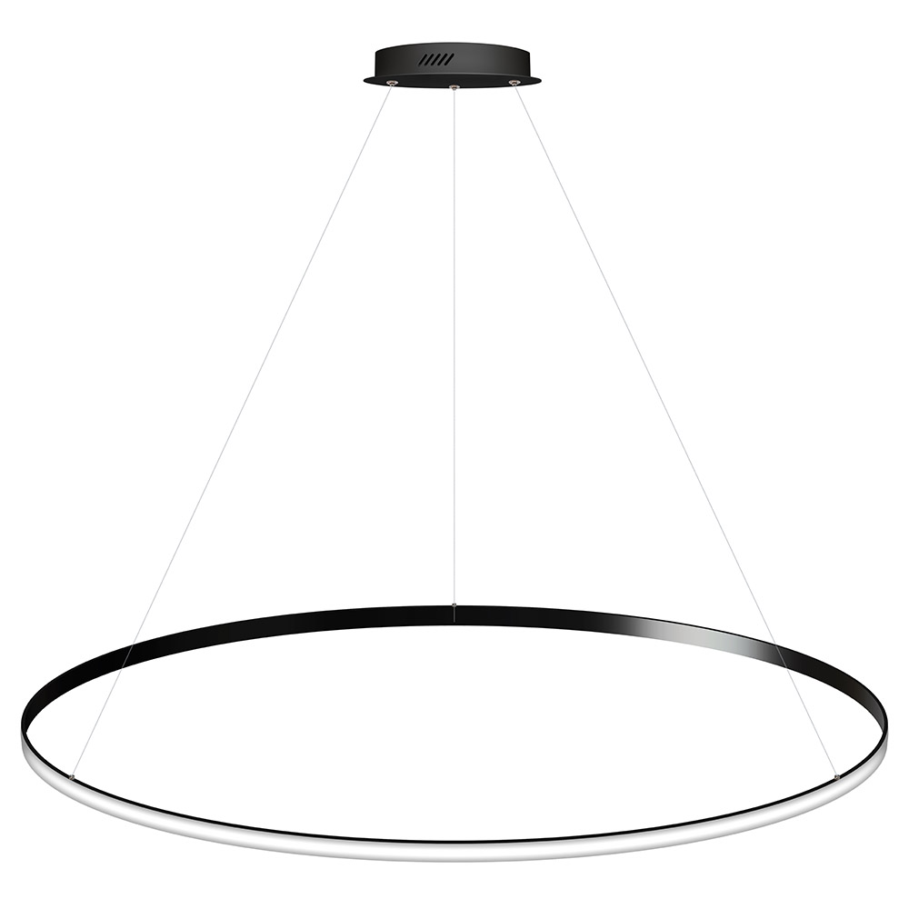 Luminaria colgante CYCLE OUT, 130W, antracita, Ø140cm