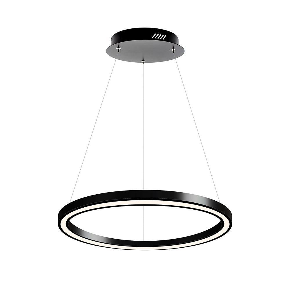Luminaria colgante RING, Ø600-3528mm, 40W, negro