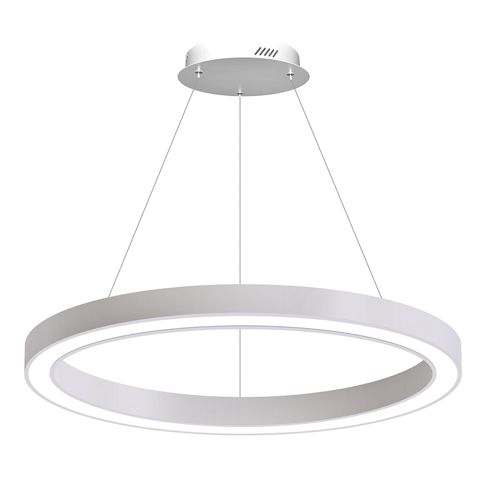 Luminaria colgante RING, Ø900-6058mm, 40W, blanco