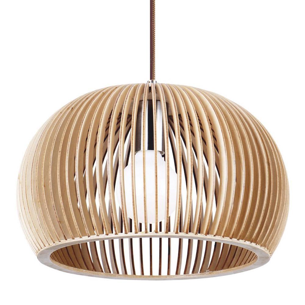 GLOBO Lámpara de madera Ø450mm