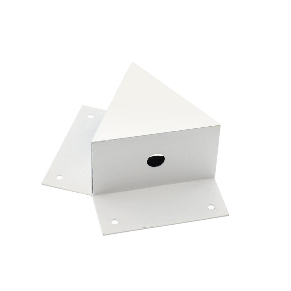 Unión doble 120° blanca para luminaria lineal MOD