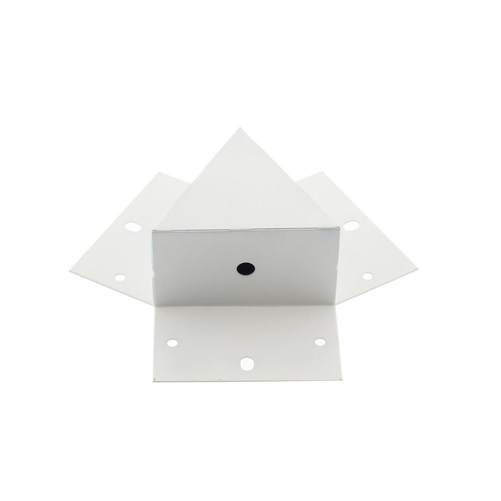 Unión triple 120° blanca para luminaria lineal MOD