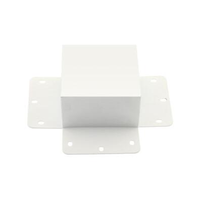 Unión cuadrado 90° blanca para luminaria lineal MOD