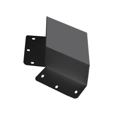 Unión doble 60° negra para luminaria lineal MOD