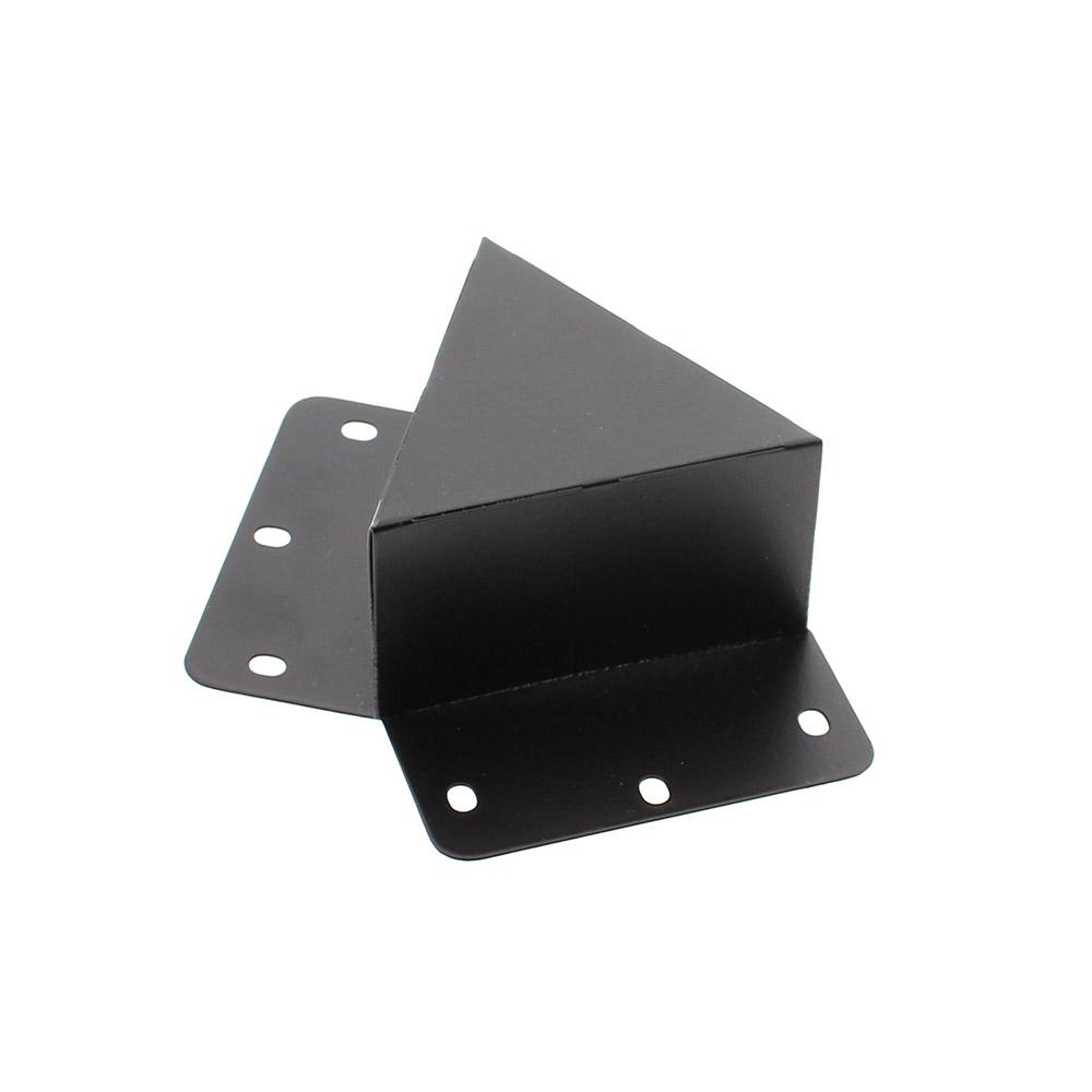 Unión doble 120° negra para luminaria lieal MOD