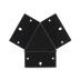 Unión triple 120° negra para luminaria lineal MOD