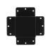 Unión cuadrado 90° negra para luminaria lineal MOD