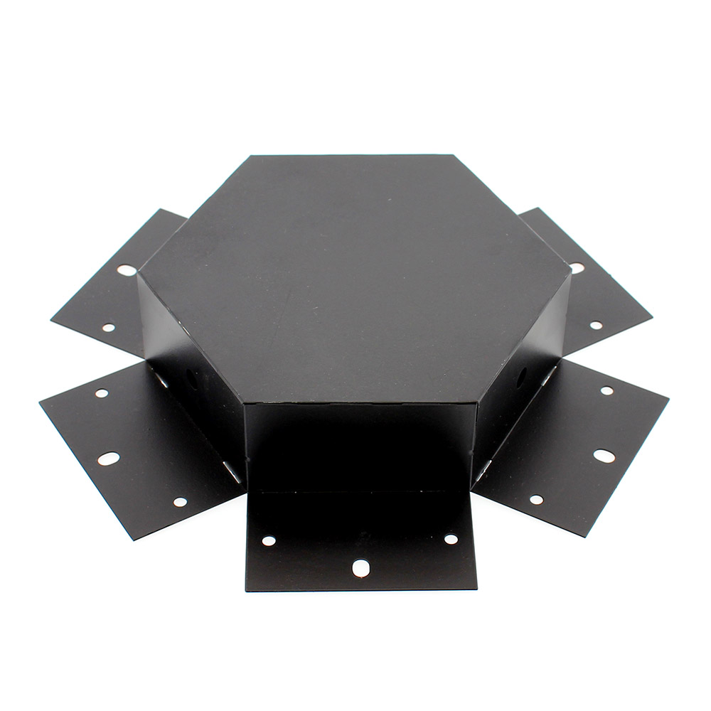 Unión exagonal 60° negra para luminaria lineal MOD