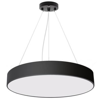 Luminaria colgante o superficie PUCK, Ø600mm, 50W, negro, Blanco frío
