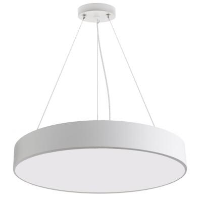 Luminaria colgante o superficie PUCK, Ø600mm, 50W, blanco, Blanco frío