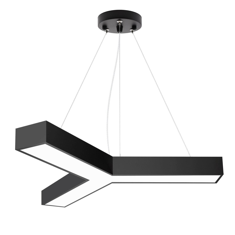 Luminaria colgante o superficie TRILED, Ø900mm, 40W, negro