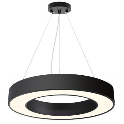 Luminaria colgante o superficie PULL, Ø600mm, 50W, negro, Blanco frío