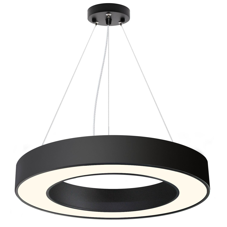 Luminaria colgante o superficie PULL, Ø600mm, 50W, negro