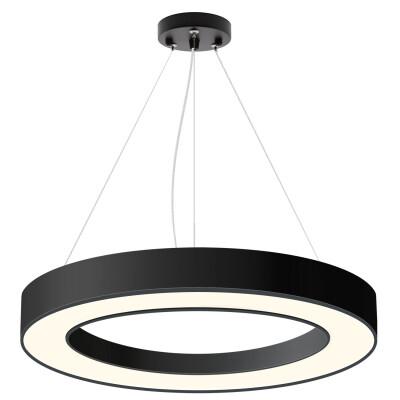 Luminaria colgante o superficie PULL, Ø800mm, 75W, negro, Blanco neutro