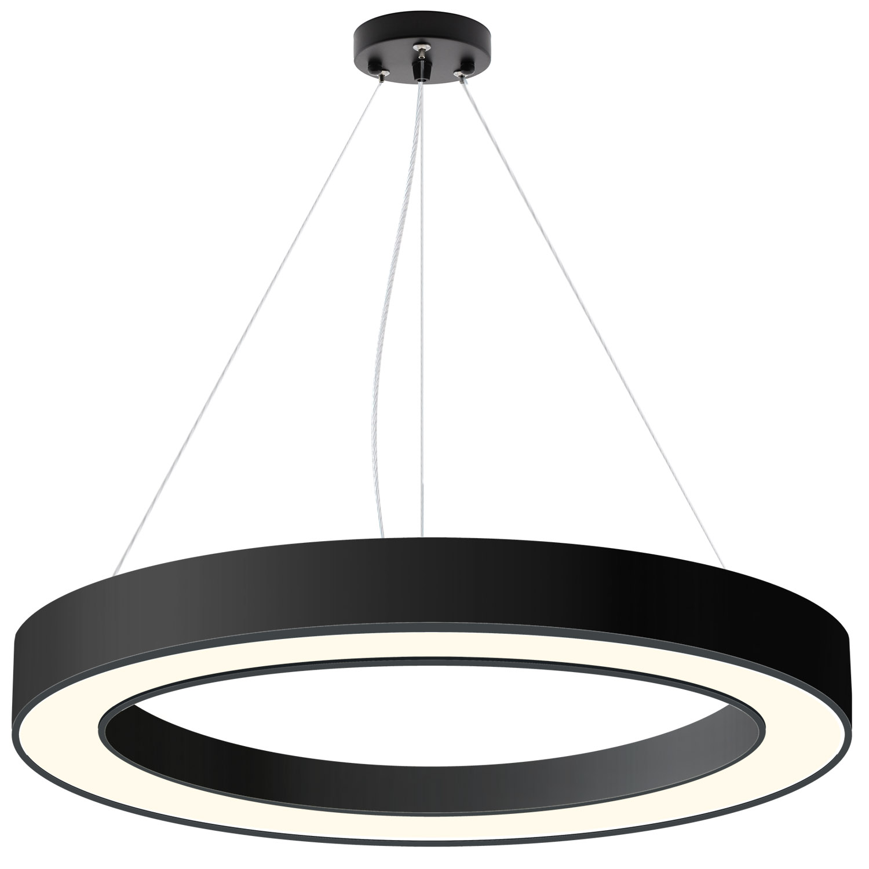 Luminaria colgante o superficie PULL, Ø1000mm, 90W, negro